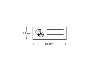 Sello de caucho automático 38 x 14 mm