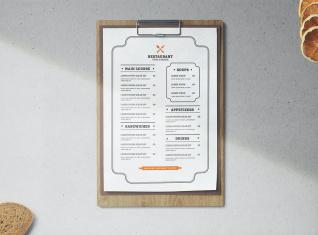 Cartas de menú 6
