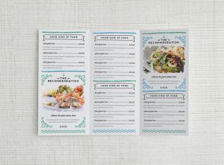 Cartas de menú 3